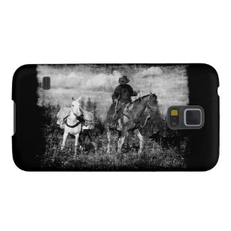 Western Cowboy Horse and Mule Samsung Case