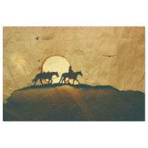 Western Cowboy Horseback Decoupage Tissue Paper