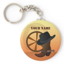 Western Cowboy Keychain