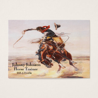 Western Cowboy On Bucking Horse Template Business Card