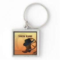 Western Cowboy Premium Keychain
