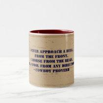 Western Cowboy Proverb Two-Tone Coffee Mug