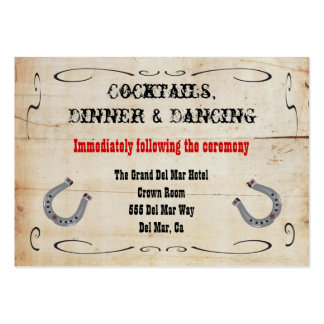 Western Cowboy Reception Enclosure Card Insert Large Business Cards (Pack Of 100)