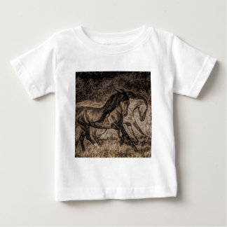 western cowboy rodeo Galloping wild horses Baby T-Shirt