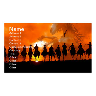 Western Cowboy Rodeo Roundup Wild West Business Ca Double-Sided Standard Business Cards (Pack Of 100)