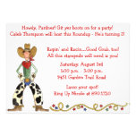 Western Cowboy Roundup Birthday Party Invitation