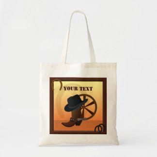 Western Cowboy Tote Bag