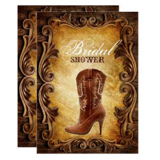 western cowboyboots vintage bridal shower card