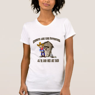 "Western ""Cowboys Are Like Outhouses...Ladies Shirt"