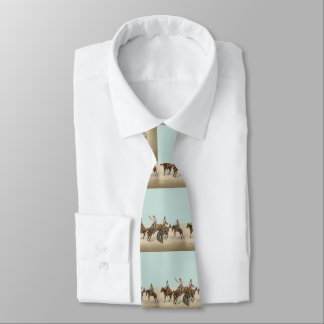 Western Cowboys On Bucking Horses Tie