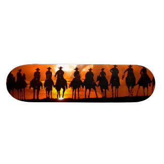 Western Cowboys sunset wild west Skateboard deck