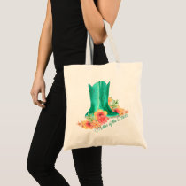 Western Cowgirl Boots Wedding Mother of Bride Tote