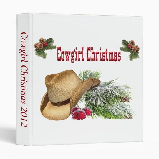 Western Cowgirl Christmas Photo Album 3 Ring Binder
