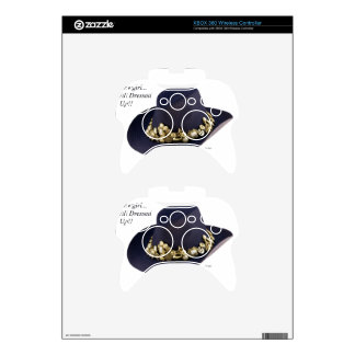 Western Cowgirl Hat Dressed To Party Xbox 360 Controller Decal