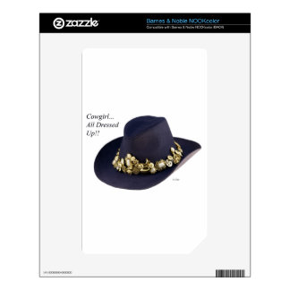 Western Cowgirl Hat Dressed To Party NOOK Color Skins