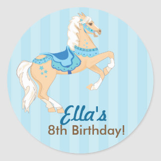 Western Cowgirl Horse Birthday Party stickers