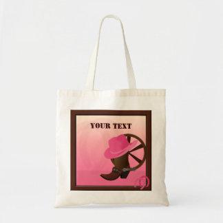 Western Cowgirl Pink Tote Bag