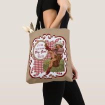 Western Cowgirl Put On Your Big Girl Boots 2 Tote