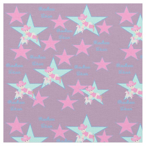 Western cowgirl rodeo kid baby with horse fabric zazzle for Kids horse fabric
