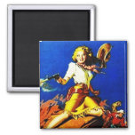 Western Cowgirl Shoot Out Magnet
