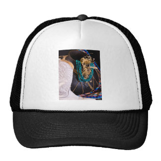Western Cowgirl White Boot Turquoise Trucker Hats