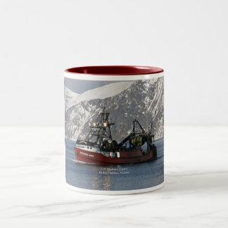 Western Dawn, Fishing Trawler in Dutch Harbor Two-Tone Coffee Mug