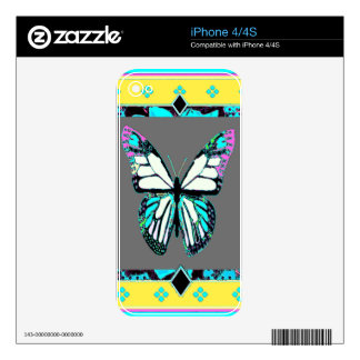 Western Deco  Butterfly Art By Sharles iPhone 4 Decals