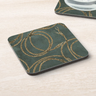 Western Decor Rope Pattern Teal 6 Coasters