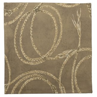 Western Decor' Rope Tan American MoJo Napkins