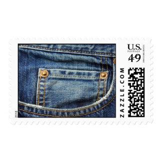 Western Denim Jeans Postage Stamps