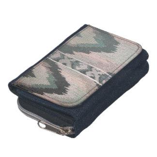 Western Denim Wallet with Coin Purse