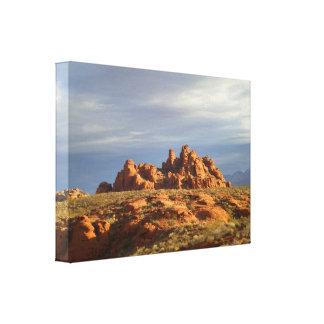 Western Desert Scenery Canvas Prints