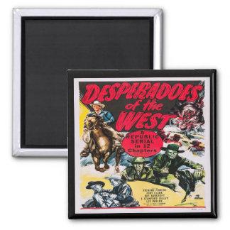 Western Desperados Of The West 2 Inch Square Magnet