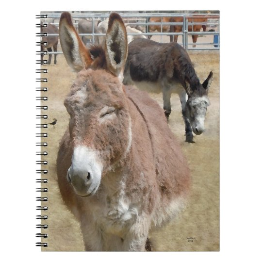 Western Donkeys Burros Notebook