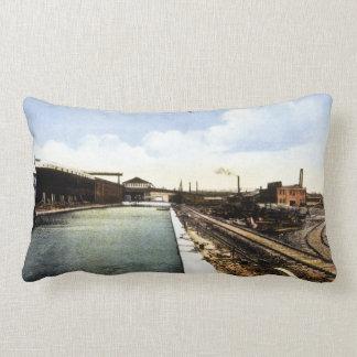 Western Dry Dock Ship Company Port Arthur Ontario Throw Pillow