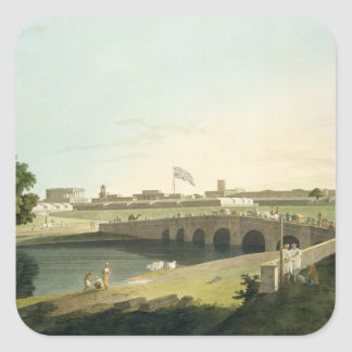 Western Entrance of Fort St. George, Madras, plate Square Sticker