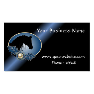 Western Equestrian Silhouette Business Cards