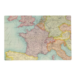 Western Europe communications Placemat