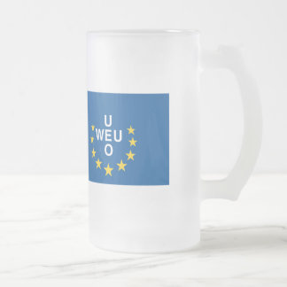 Western European Frosted Glass Beer Mug