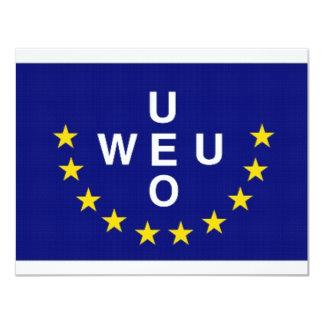 Western European Union Flag Card