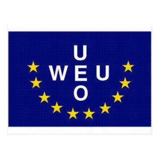 Western European Union Flag Postcard