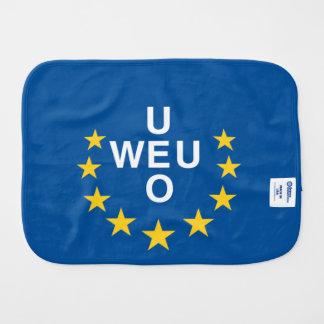 Western European Union Flag Baby Burp Cloth