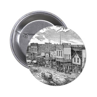 Western expansion in frontier America Button