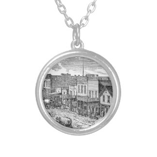 Western expansion in frontier America Round Pendant Necklace