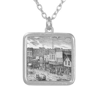 Western expansion in frontier America Square Pendant Necklace