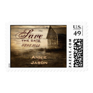 western farmhouse countrywedding SaveTheDate Postage Stamps