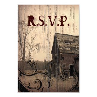 western farmhouse customizable country RSVP Personalized Invitations