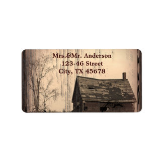 western farmhouse customizable country Wedding Labels