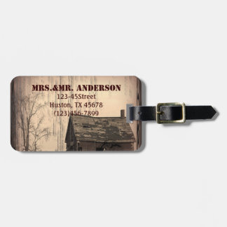 western farmhouse customizable country Wedding Travel Bag Tag