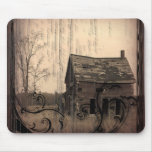 western farmhouse customizable country Wedding Mouse Pad